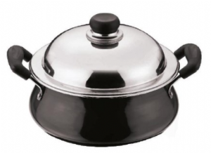 Hard Anodised Handi [Karahi Pot] | Buy Online at The Asian Cookshop.